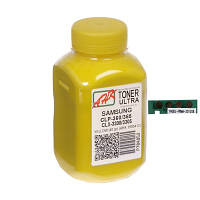 Тонер + чип SAMSUNG CLP-360/365/CLX 3300/3305 Yellow (АНК, 1505416) ULTRA COLOR