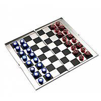 Шахматы магнитные дорожные алюминий 16х9х1 см