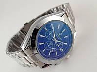 Мужские часы Patek Philippe - стальной браслет, темный циферблат