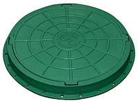 Люк садовый пластмассовый легкий (зелёный)