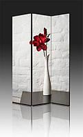 Ширма Промарт Україна Красный цветок в белой вазе 120х180 см