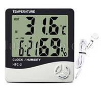 Термометр электронный НТС-2 с гигрометром, часами, будильником, календарём и выносным датчиком
