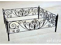 Кованая оградка с завитками, фото 1