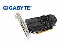 Gigabyte PCI-Ex GeForce GTX 1050 TI OC Low Profile 4GB GDDR5 (128bit) (1303/7008) (DVI, 2 x HDMI, DisplayPort)