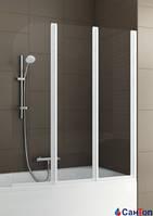 Ширма для ванной трехстворчатая  AQUAFORM MODERN 3 профиль матовый хром