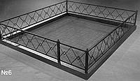 Кованая оградка с квадрата
