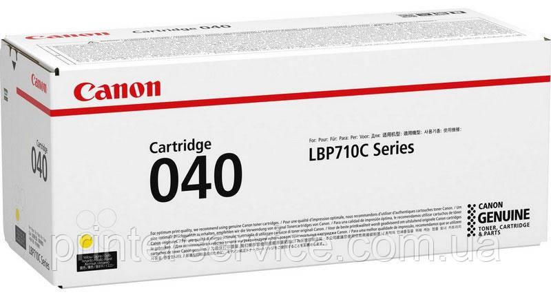 Картридж Canon 040 yellow для LBP710/712 (0454C001)