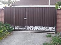 Ворота из профнастила