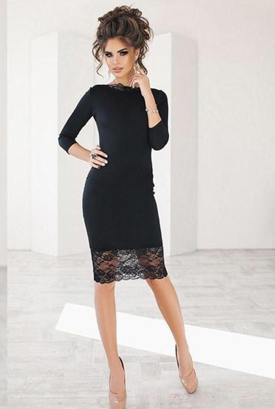 ab5064374af Черное Коктейльное платье -ЯСМИНА- 46