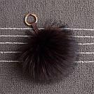 Брелок помпон из натурального меха большой, фото 2