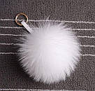 Брелок помпон из натурального меха большой, фото 3