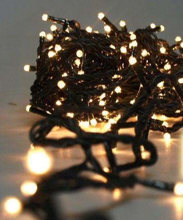 Гирлянда на 300 LED белая теплая