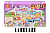 Конструктор аналог LEGO Friends 41310 ''Стефани и доставка подарков'  Bela  188 дет.  33,3*21*4,5 см.