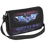 Сумка-почтальон через плечо, молодежная, черная, горизонтальная, Batman BN07803