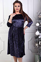 Платье с юбкой плиссе женское ботал ВЛЮ162, фото 1