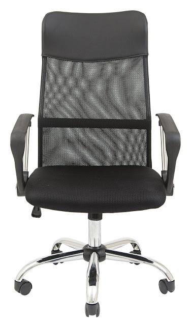 Компьютерное кресло Richman Ультра черное Хром дышащяя спинка-сетка