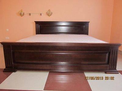 Кровать деревянная Калипсо двуспальная , цвет на выбор, фото 2