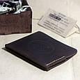 """Подарочный набор мужской """"Wallet Triplet Box"""": кожаный кошелек и кожаный браслет с якорем. Цвет коричневый, фото 3"""