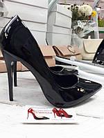 Туфли лодочки классика  шпилька  черные