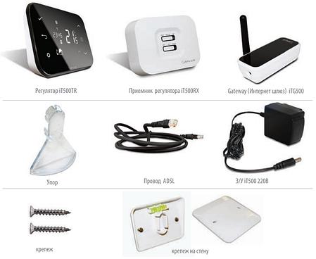 IT500 Інтернет-термостат (Контролер + приймач + інтернет-шлюз), фото 2