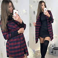 Платье - рубашка в клетку