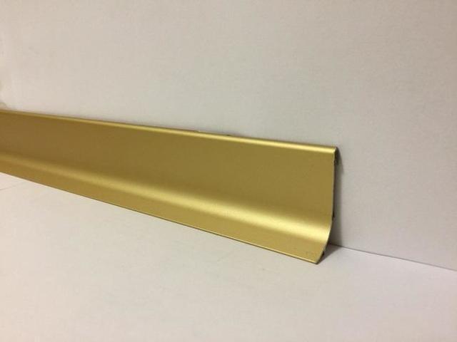 Плинтус алюминиевый для пола Effector Multi Effect Q64,золото 16,8*50*2700мм
