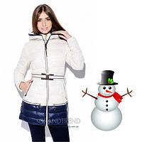 Женское зимнее пальто - Пуховик Bona 6001 - Белый