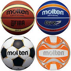 Мячи футбольные, баскетбольные, волейбольные, для фитнеса и другие