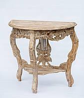 Консольный резной стол из тика, 70 см