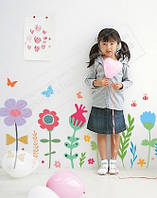 """Виниловая наклейка на обои в детскую """"Полевые цветы"""""""