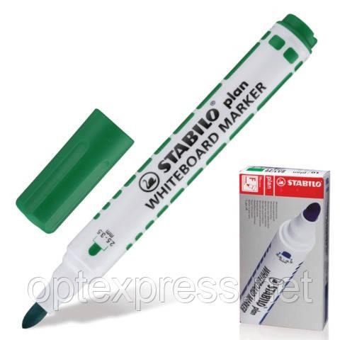Маркер для белой доски STABILOplan зеленый