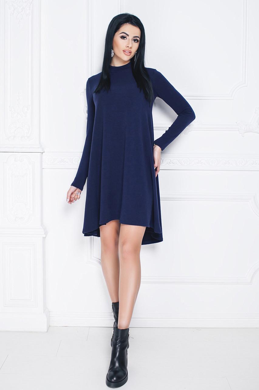 Платье трикотажное Леонор темно-синее