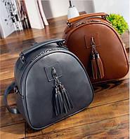 Рюкзак сумка сундучок с кисточкой