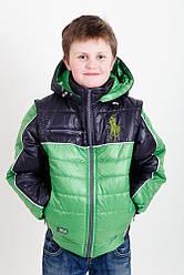 """Демисезонная -жилет куртка для мальчика """"Поло""""  новинки 2016"""