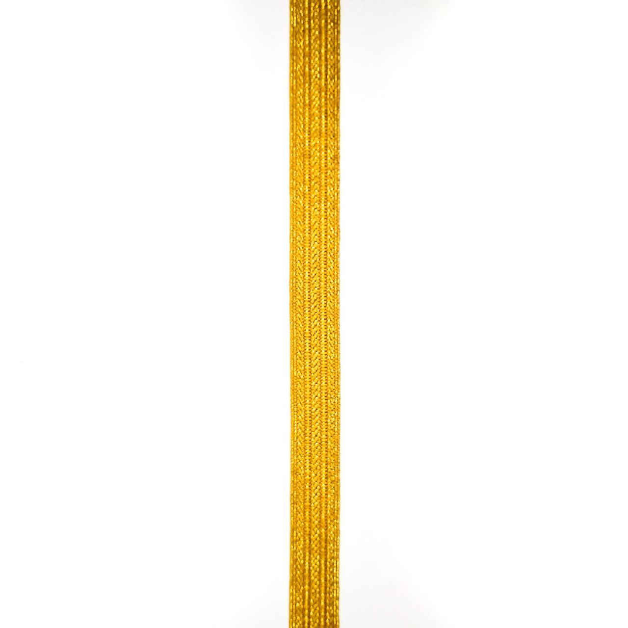 Лента галун с метанитью с узором 13 мм ( 25 м/рулон)
