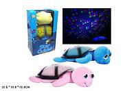Детский Ночник черепаха ML88-6 плюшевый, проектор ночного неба, колыбельные песенки, светится разными цветами