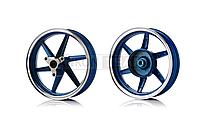 Диски колес Honda Dio 2.15*10 алюм RUIMA синие