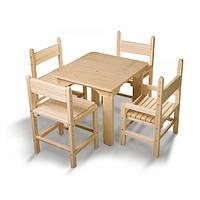 Набор столик и стульчики сосна