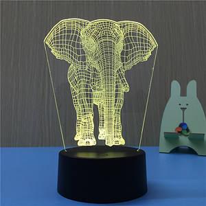 3Д светильник Слоник,