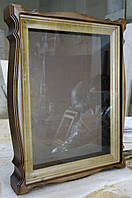 Киот для иконы из ольхи со светлой деревянной рамой., фото 1