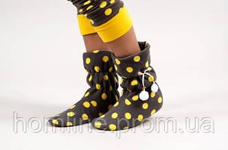 Домашняя обувь Dika Угги DK21 желтые L/XL