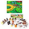 HU Животные M 0256 U/R домашние, 20 шт, игровое поле, в кульке, 32-23-5см
