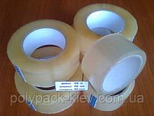 Скотч упаковочный 66м*48мм*38мкм прозрачный, прочный, клейкая лента упаковочная купить