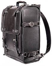 Рюкзак из натуральной кожи краст 30л. UKR may17-14 черный