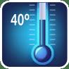 Работает при температуре в 40º С