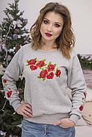 Жіночий светр Маки яскраві