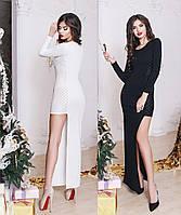 Женское вечернее платье асимметрия с люрексом