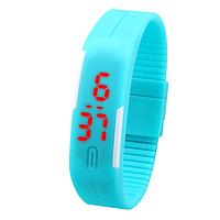 Спортивные Led - часы голубые