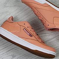 Подростковые кроссовки Reebok 3954 персиковые