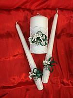 """Набор свечей """"Свадебный очаг""""(цвет любой)"""